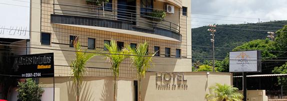 Fachada do Hotel Pousada de Minas em Itabirito MG